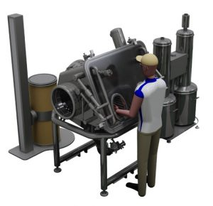 High containment station with drum tipper