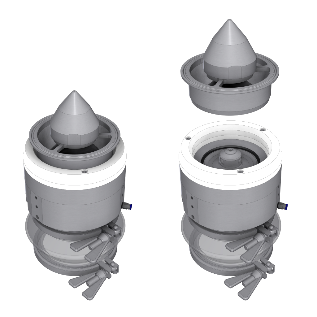 Illustration of VIAS split valve