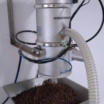 Vacuum conveying of coffee beans