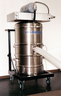 Dust collection vacuum system from Volkmann